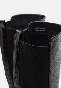 New Look - PLAIN STRETCH BACK  - Vysoká obuv - black - 5