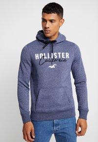 Hollister Co. - TECH LOGO - Hoodie - textural navy - 0