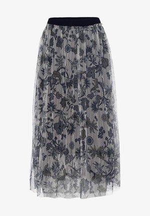 Pleated skirt - marine