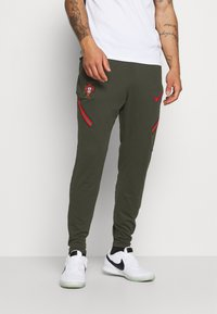 Nike Performance - PORTUGAL DRY PANT  - Träningsbyxor - sequoia/sport red - 0