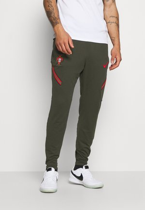 PORTUGAL DRY PANT  - Tracksuit bottoms - sequoia/sport red