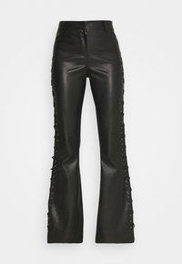 Topshop - LACE UP FLARES - Kalhoty - black - 5