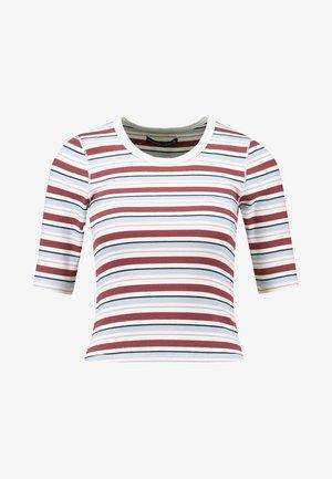 HALF SLEEVE SNAP - Basic T-shirt - red/white