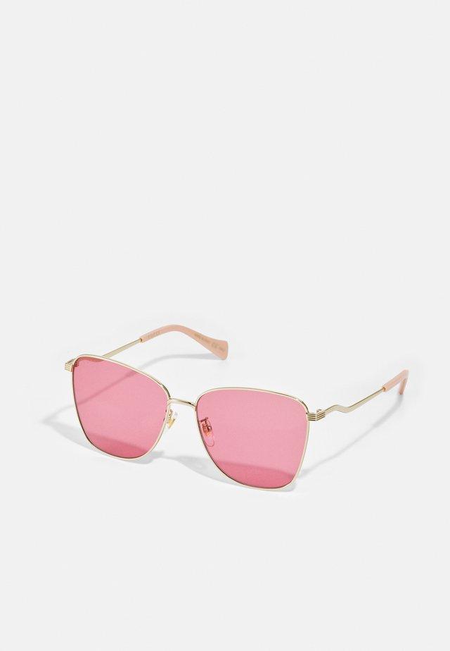 Gafas de sol - gold-coloured/red