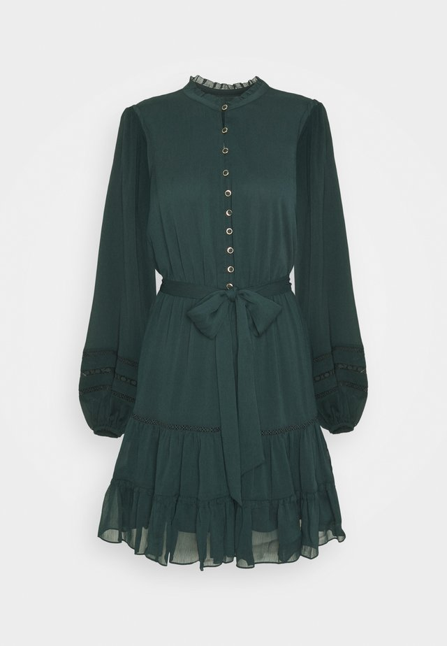 RHIANNA BLOUSON SLEEVE SKATER DRESS - Abito a camicia - forest green