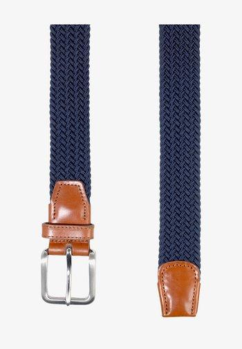 JACSPRING BELT - Braided belt - navy