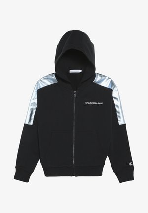 FOIL BLOCK RAGLAN ZIP HOODIE - Zip-up hoodie - black