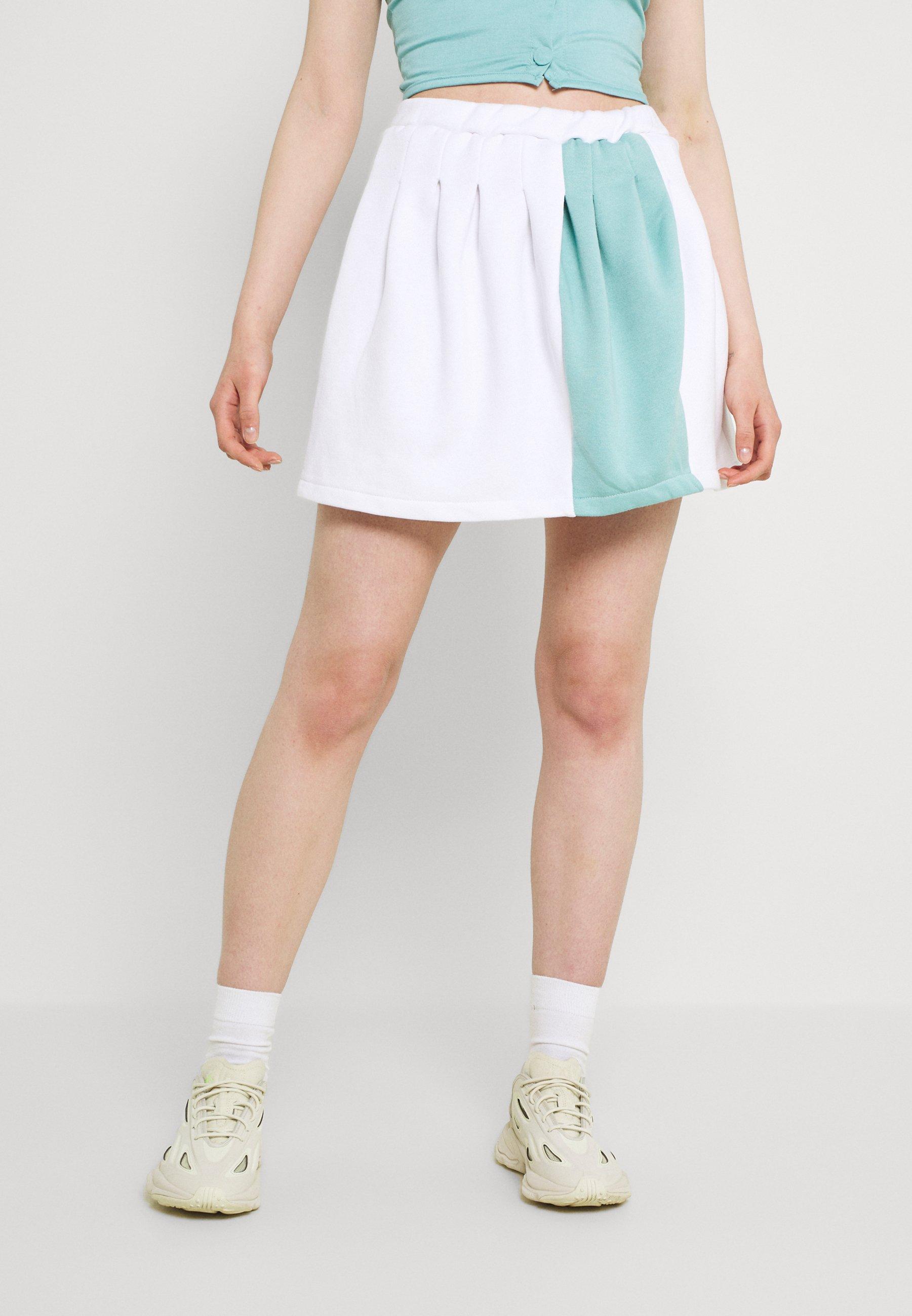 Women SPLICED PLEATED SKIRT - Mini skirt