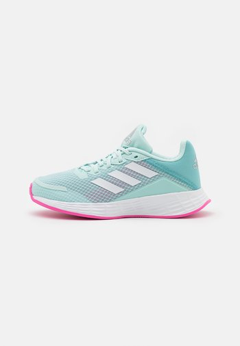 DURAMO UNISEX - Neutral running shoes - halo mint/footwear white/screaming pink
