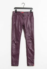edc by Esprit - Leather trousers - purple - 0