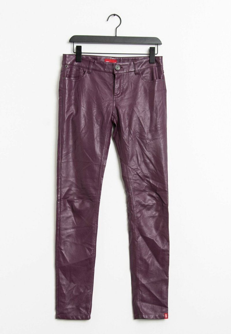 edc by Esprit - Leather trousers - purple