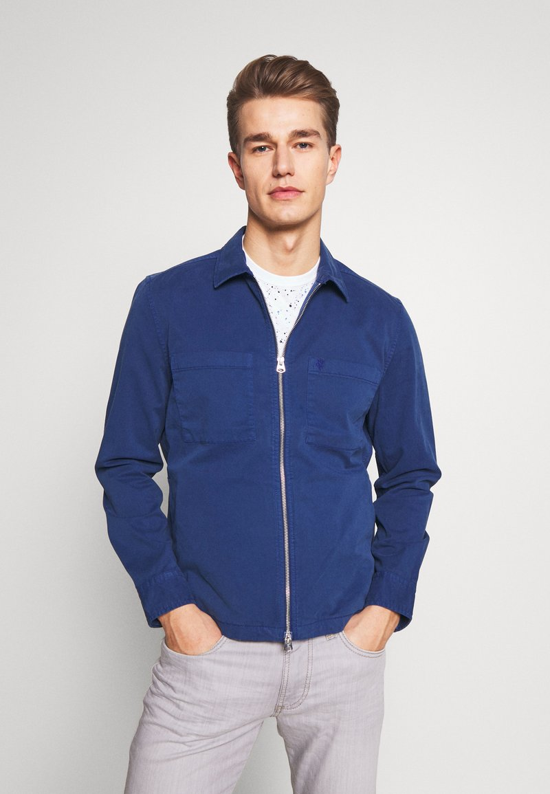 Marc O'Polo - LONG SLEEVE TWO PATCHED CHEST AND SIDE SEAM POCKETS - Veste légère - estate blue