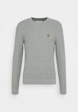 Strikkegenser - mottled light grey