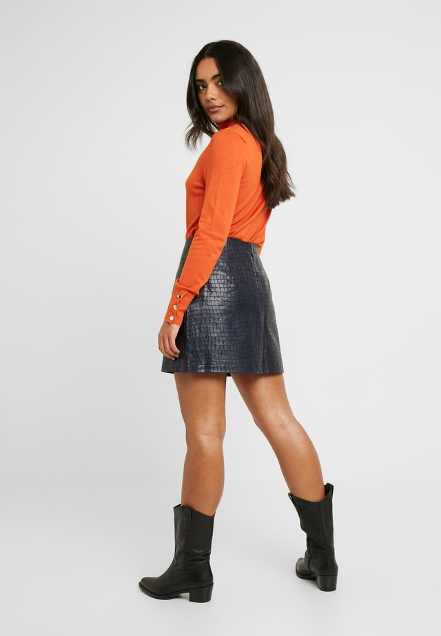 MINI SKIRT IN CROC - Minigonna - navy