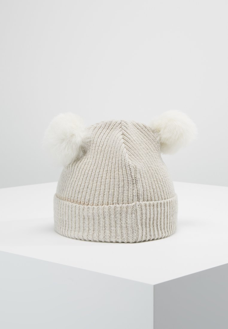 Huttelihut - KIDS PATENT FOLD UP POMPOMS - Beanie - white/white
