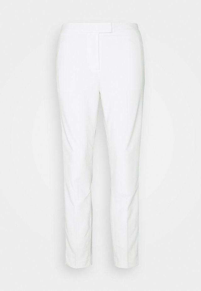 FRONT TAB STRAIGHT PANT - Pantalon classique - ivory