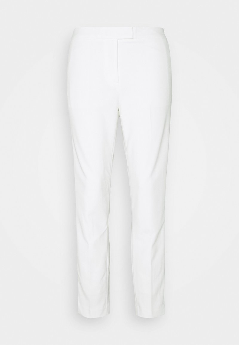 DKNY - FRONT TAB STRAIGHT PANT - Trousers - ivory