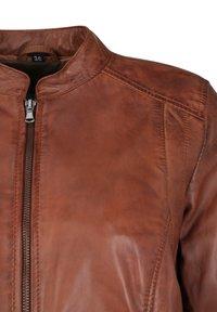 7eleven - Leather jacket - cognac - 4