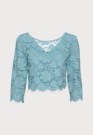 LACE SHIRT - Triko spotiskem - dark turquoise