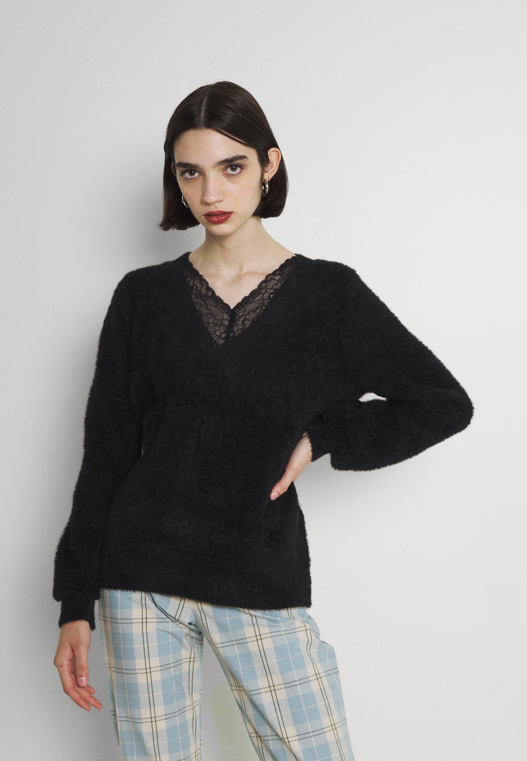 Femme VIHELLY V NECK  - Pullover
