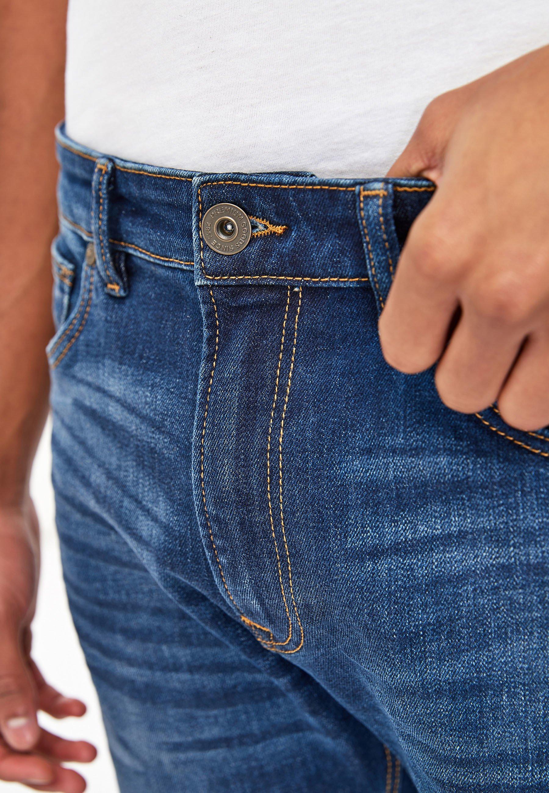 Hombre DARK BLUE SLIM FIT JEAN WITH STRETCH - Vaqueros slim fit