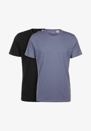 2-PACK - Basic T-shirt - black/blue