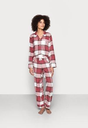SLEEP SET - Pyjama set - white/red