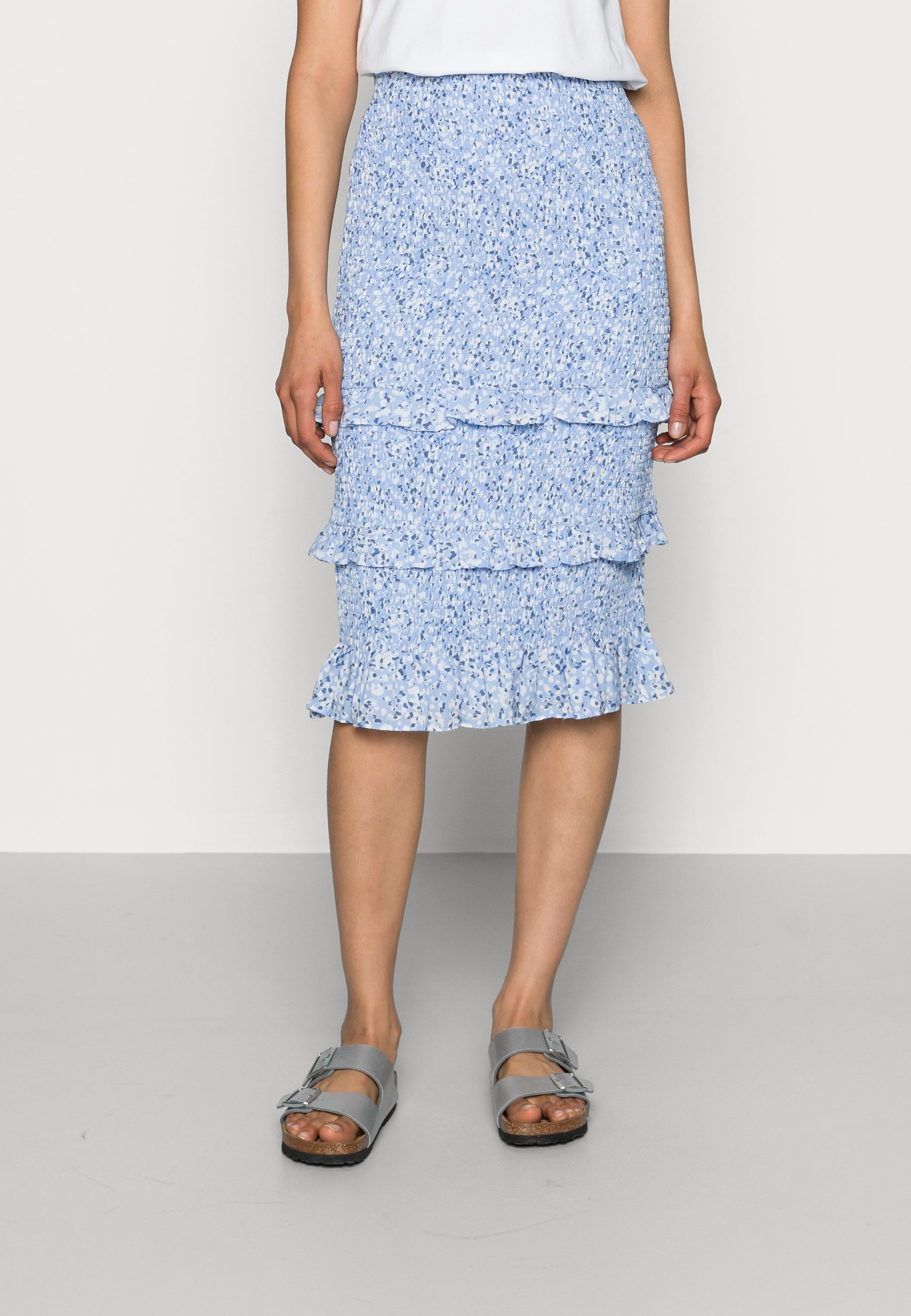 Women WEBEX  SMOCKED MIDI - Pencil skirt