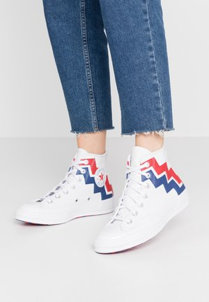 CHUCK 70  - High-top trainers - white/university red/rush blue