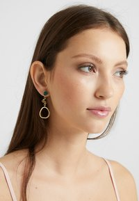 SNÖ of Sweden - LIW LONG MIX EAR - Earrings - gold-coloured/green - 1