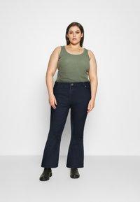 CAPSULE by Simply Be - KIM HIGH WAIST SUPER SOFT - Bootcut jeans - dark indigo - 1
