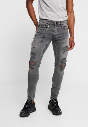 ONSWARP DAMAGE CHAIN - Jeans Skinny Fit - grey denim
