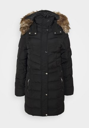 LONGLINE BELTED PUFFER - Winter coat - black