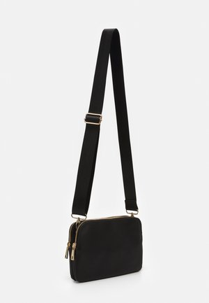 TWO POCKET BAG - Across body bag - black