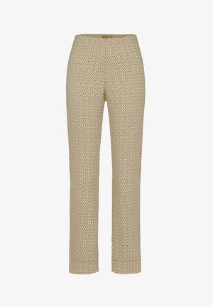 INA-740 95953 STRETCHHOSE JACQUARD - Trousers - braun