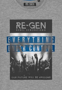 Re-Gen - TEEN BOYS - Print T-shirt - grey melange - 2