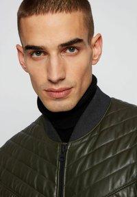 BOSS - JECEY - Leather jacket - open green - 4