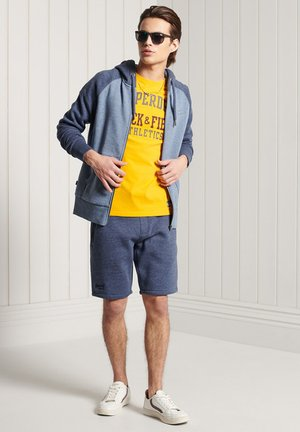 Zip-up hoodie - slate blue grit