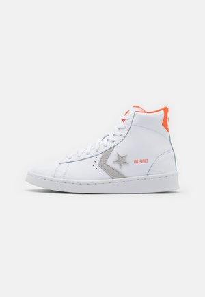PRO LEATHER UNISEX - High-top trainers - white/mouse/bold mandarin