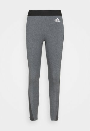 Leggings - dark grey heather/white