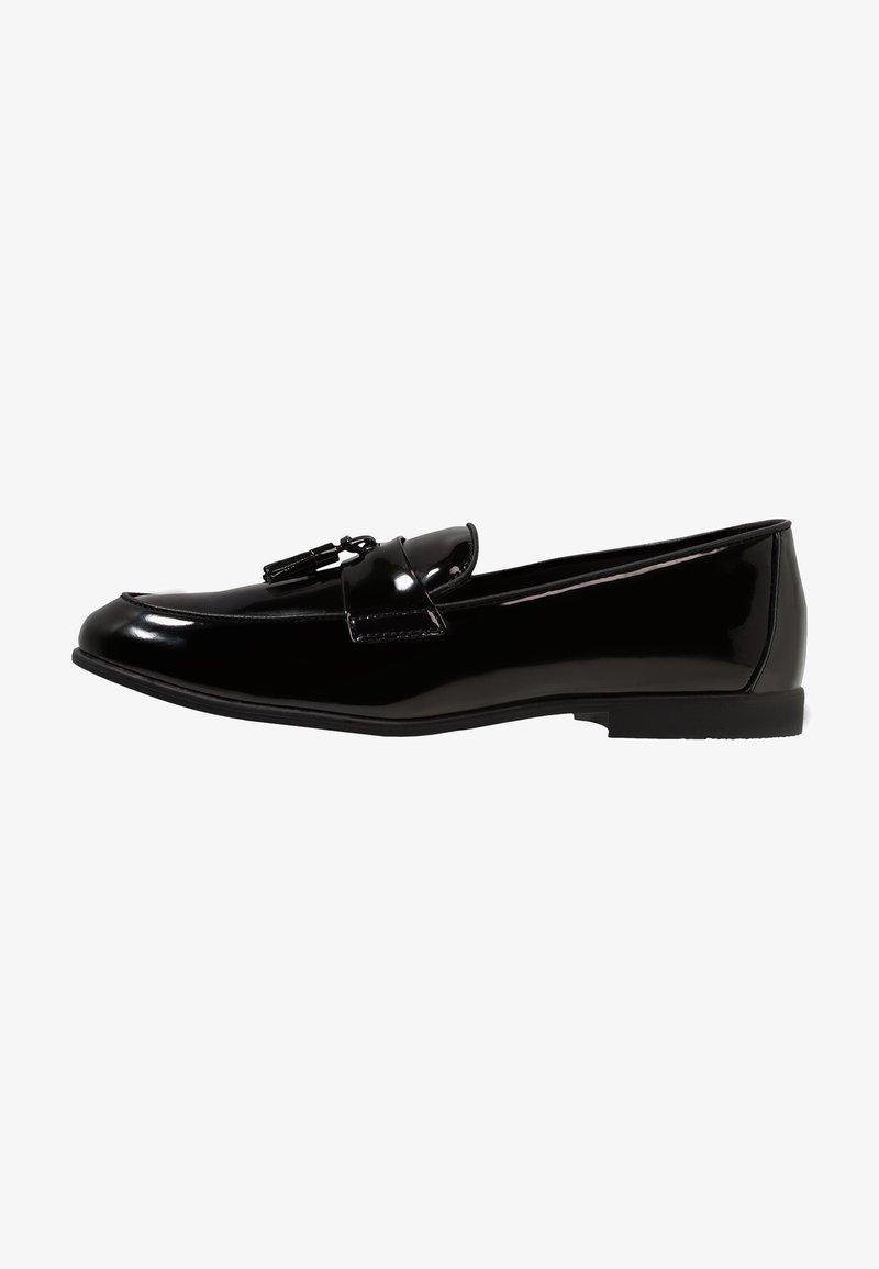 Topman - PRINCE PATENT LOAFER - Mocassini eleganti - black