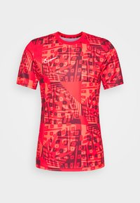 Nike Performance - DRY ACADEMY  - Print T-shirt - bright crimson/white
