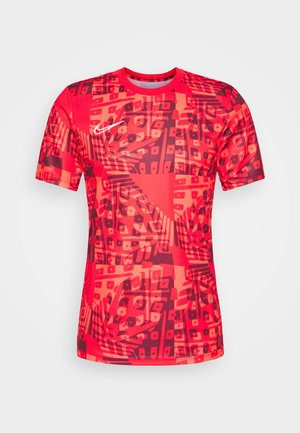 DRY ACADEMY  - Camiseta estampada - bright crimson/white