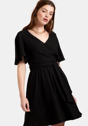 CRINKLE SHORT DRESS - Vapaa-ajan mekko - black