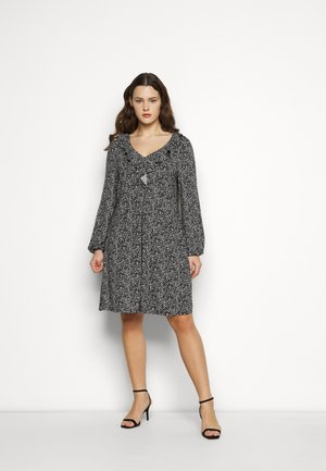 V NECK MONO DRESS - Trikoomekko - black