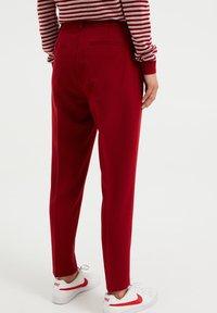 WE Fashion - Kangashousut - red - 2