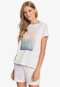 Roxy - SUMMERTIME HAPPINESS  - Print T-shirt - snow white - 3