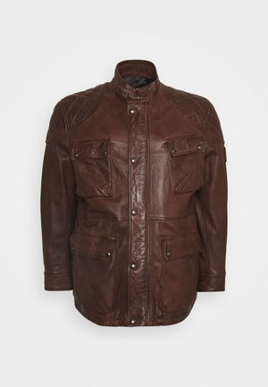 FIELDBROOK JACKET - Leather jacket - walnut