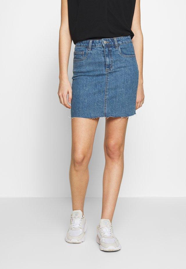 CLASSIC STRETCH MINI SKIRT - Denimová sukně - berkley blue