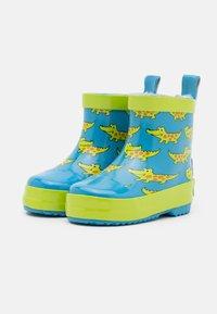 Playshoes - HALBSCHAFT KROKODIL UNISEX - Wellies - blau - 1